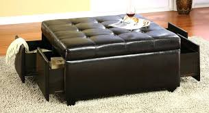 ottoman square ottoman with drawers leather ottoman coffee table