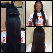 versitile sew in two way sew in middle part half up half down
