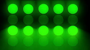 abstract animated random green lights for
