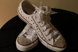 wedding shoes converse wedding sneakers bling sneakers wedding shoes swarovski