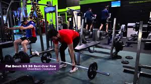 Bench Barbell Row Flat Bench Press Superset Barbell Bent Over Row Youtube