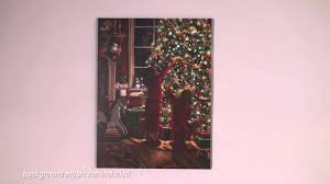 decorate the christmas tree led lighted canvas art youtube
