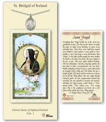 prayer card st brigid of ireland pendant prayer card catholiconline shopping
