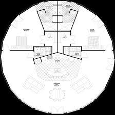 geodesic dome floor plans round open floorplan round octagonal house pinterest
