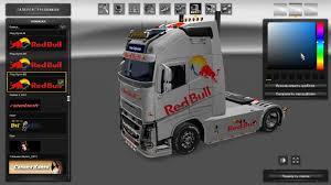 red volvo truck volvo fh16 2012 volvo fh16 2013 red bull metallic truck skins