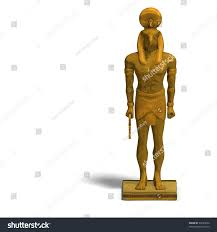 statue with rendering god horus statue clipping stock illustration