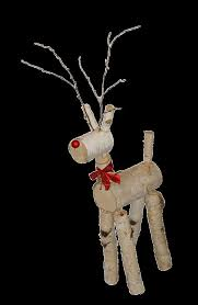 Outdoor Christmas Decorations Wooden Deer by Reindeer Made From Birch Logs For Patrick To Make Pinterest