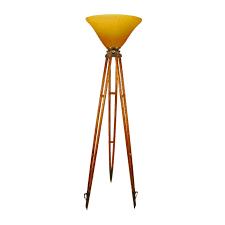 antique engineer u0027s tripod floor lamp with art glass shade lighting