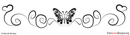 lower back butterfly design ideas