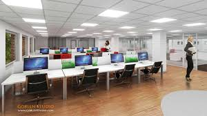 facebook office interior architectural visualization commercial office space