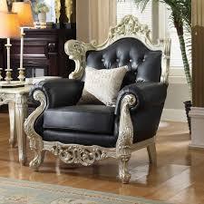 Dynamic Home Decor Braintree Ma Us 02184 Meridian Furniture 602 C Cesar Black Crystal Tufted Leather Chair
