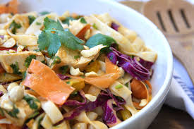 Cold Pasta Salad Recipe Chicken Peanut Udon Noodle Salad The Fed Up Foodie