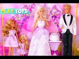 barbie ken wedding baby doll pink car toy u0026 bicycle