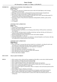 sle of resume construction apprentice resume sles velvet