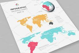 World Map Dominican Republic by World Map Flat Vector Illustrations Creative Market