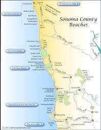 sonoma california map sonoma county beaches map png