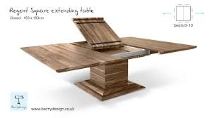 Extended Dining Table by Regent Square Extending Table Mechanism By Berrydesign Youtube