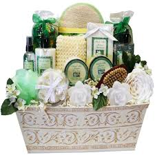 spa baskets lavender renewal spa relaxing bath and gift basket set large