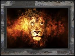 decor painting second life marketplace re fiery lion picture framed free big
