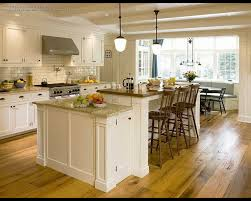 kitchen layout rectangular ivory modern island dining table space