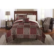 mainstays cabin bed in a bag coordinated bedding set walmart com