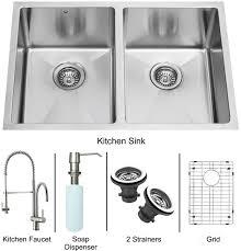 Kitchen Sink And Faucet Sets Double Bowl Sink U0026 Faucet Combinations