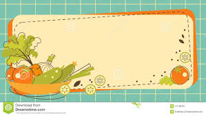 Kitchen Background Food Kitchen Background In Doodle Retro Style Stock Vector Image