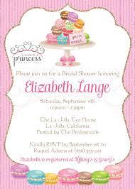 photo bridal shower invitation macarons image