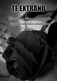 imagenes te extraño con lagrimas rosas negras moños y lazos con mensajes y frases de condolencias