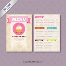 simple menu template free bakery menu template templates franklinfire co