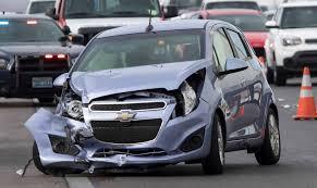 the scene of a crash on northbound u s highway 95 near east tropicana avenue on thursday