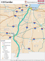 Map To Chicago by I 55 U2014 Mid America Freight Coalition