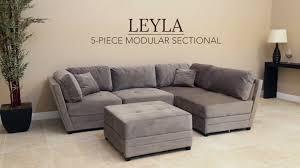 Abbyson Sectional Sofa Living Leyla Fabric Modular Sectional On Vimeo For 5