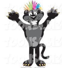 jaguar clipart vector illustration of a cartoon black jaguar mascot punk with