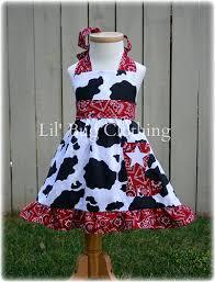 western wear jumper dress red bandana and cow custom