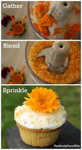 naturally colored decorating sugar using edible flowers