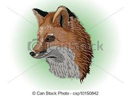 old fox head and neck of the old fox drawing search clip art
