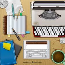 bureau d ecrivain bureau de l écrivain réaliste télécharger des vecteurs gratuitement
