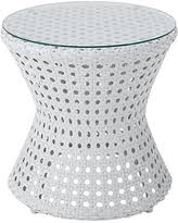 white wicker side table amazing deal on loft wicker side table antiqued white