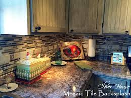 kitchen backsplash diy clover house diy mosaic tile backsplash