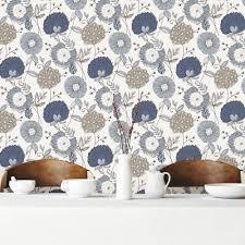 brewster navy modern floral wallpaper wv5653 the home depot