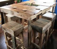cuisine en palette table haute avec tabouret pour cuisine une table haute de bar en