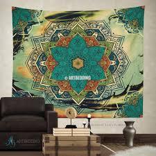 mandala tapestry boho tapestry wall hanging bohemian decor