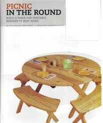 round picnic table plans other pinterest round picnic table