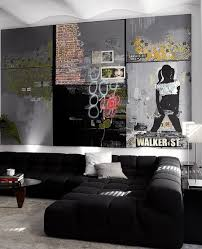 new graffiti living room beautiful home design creative on