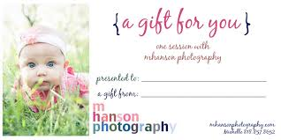 certificate gift certificate template photography