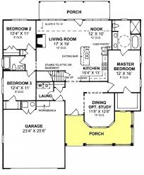 1 Floor Home Plans 655852 1 Story Country Farmhouse 3 Bedroom 2 Bath With Open