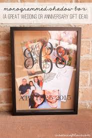 Wedding Gift Craft Ideas Monogrammed Shadow Box Shadow Box Anniversary Gifts And Monograms