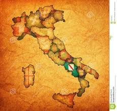 Map Of Italy by Map Of Italy With Campania Region Royalty Free Stock Photo Image
