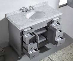 Vanity With Carrera Marble Top Bathroom Excellent 48 Inch Vanities Bath The Home Depot Pertaining